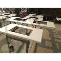Buy cheap Super White Nano 3 Crystallized Glass Top Kitchen Table For Home / Restaurant / Hotel product