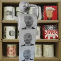 China Trump printed toilet paper 3 layer 200 sheets 100% wood virgin pulp novelty toilet roll supplier on sale