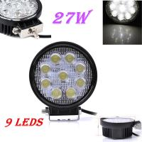 China 27W LED Work Light 30 Degree High Power LED Offroad Light Round Off road LED Work Light SpotLights wholesale