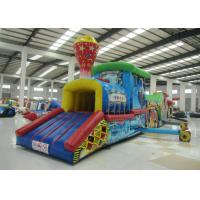 Buy cheap Colourful Amusement Park Blow Up Bounce House , Outdoor Obstacle Course Moon Bounce product