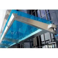 Buy cheap Customized Color Commercial Steel Awnings , Windproof Glass And Steel Awnings Anti Yellowing product