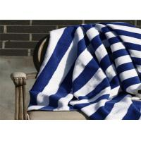 Buy cheap 100% Cotton Blue & White Color Hotel Stripe Beach Towel With 80*160CM product