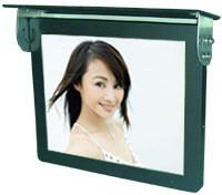 China 17 3G Bus Digital Signage Monitor / LCD Advertising Display Ceiling mounted With Scrolling Marquee on sale