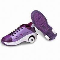 China Roller Shoes for Kids, Made of Dacron Insole and Rubber Outsole, OEM/ODM Orders are Welcome on sale