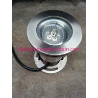 China 12V/24V Stainless Steel Underwater Fountain Lights MR16 Bulb / LED 3W RGB Color Changing IP68 wholesale