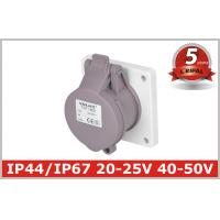 Buy cheap IP44 2P,3P 16A,32A Indoor  Industrial Power Socket / Single Phase Outlets /Low-voltage panel mounted socket product