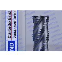 Buy cheap 2.4 mm Pitch AlTiN Coating Rough Cut End Mill , 4 Flute Solid Carbide Drill Bits product