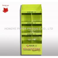 Buy cheap Green Corrugated Cardboard Display Stands , Brochure Display Rack 4 Layers product