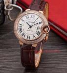 Buy cheap Cartier Ballon Bleu 33mm Automatic Rose Gold Diamond Watch product