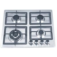 China Build In Auto Ignition 4 Burner Gas Hob Stainless Steel 110-220V For Kitchen wholesale