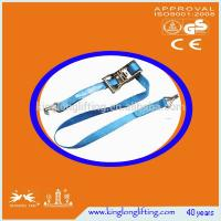 Buy cheap High Tenacity  Industrial Lifting Straps Ratchet Tie Down 1500kg Blue Color product