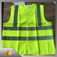 Buy cheap 100% Polyester Geen Reflective Safety Vests With Tricot Fabric Design product