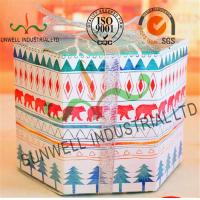 Buy cheap Personalized Hexagon Cardboard Food Packaging Boxes With Ribbon Bow Decoration product
