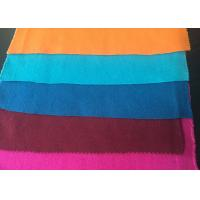 Buy cheap Plain Style Merino Wool Fabric Melton Cloth Fabric For Suit , Orange Blue Red product