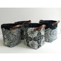 Buy cheap Artistic Laundry Basket Leather Pu Materials Handwork product