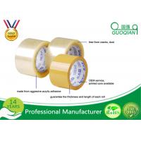 China Clear Transparent High Tack Adhesive BOPP Packing Tape 48mm X 50m wholesale