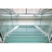 Buy cheap tempered glass for curved internal stairs hand rails as well as for balcony handrails product