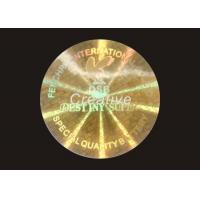 Buy cheap Recycled Round PET 3D Printing Tamper Proof Hologram Stickers For CD product