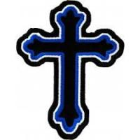 China religious amp christian biker patches decorative cross patches