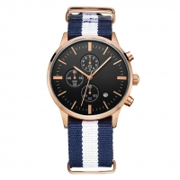 Buy cheap Chronograph Function Mens Quartz Watch With NATO Strap 5 Atm Waterproof product