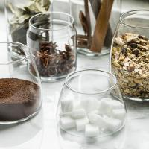 Fabricante de cristal moderado grueso del tarro del pequeño de los contenedores de almacenamiento de la boca claro de cristal ancho de cristal de cristal del tarro