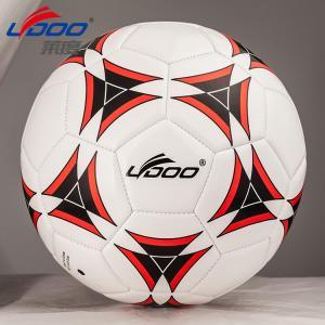 Buy cheap le football de haute qualité de machine-couture de PVC, sections en cuir des PCs #5,32, vessie butylique avec le fil en nylon couvert product