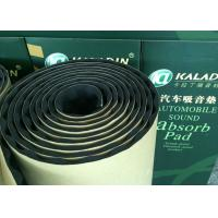 China 10mm Adhesive Acoustic Insulating Foam Moisture proof Noise Reducing Material Black on sale