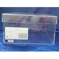 Sgs 32x23x17cm Transparent Perspex Shoe Box With Sticker