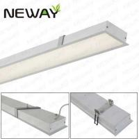 China aluminum led linear recessed led down light Danmark DK Belgium BE Braizil BR  recessed led linear lighting wholesale