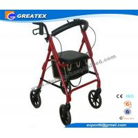 Buy cheap Lightweight folding rollator 4 wheel walker , folding walking frames for the elderly product