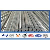 Buy cheap Silver Galvanized Steel Electrical Power Pole For Transmission Galvanized Line product