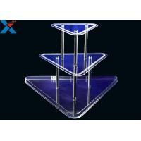 Buy cheap Clear 3 Layer Acrylic Wine Holder , Lucite Display Stands Durable And Chemical Stability product