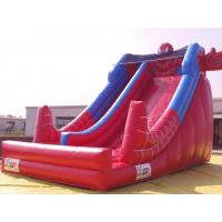 Buy cheap PVC Inflatable Water Slide With Pool In Front Of / Spiderman Slides product