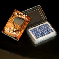 Buy cheap Russian Plastic Playing Cards / Gambling Props Bridge Size With 2 Small Index product