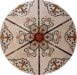 Buy cheap Modelos de mármol del medallón de la teja de mosaico del chorro de agua, modelos del tablero de la mesa del mosaico del embutido product