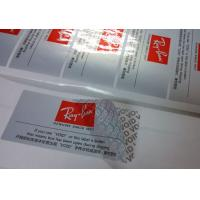 Buy cheap Silver Partial Security Printing Paper Material Water Based Sensitive Adhesive product