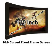 """High Brightness 110"""" Arc Fixed Frame Wall Mounting Cinema Projection Screen 16:9 Format"""