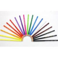 China 24 Colors Pencil Crayon Set, Triangle Shape Pencil in Paper Color Box on sale