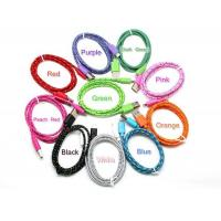 3ft Colorful Round Nylon Woven Charging & Data Sync Cable for iPhone 5 6 6 Plus