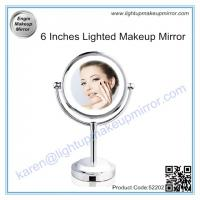 China 6 Inches Lighted Makeup Mirror on sale