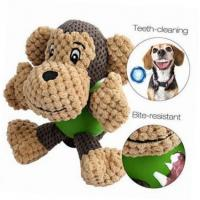 China Durable Monkey Shaped Plush Pet Toys , Squeaky Dog Toys For Aggressive Chewers on sale