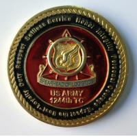 Buy cheap Metal US Army Military Coins With Soft Enamel / Dye Black Zinc Alloy Material product