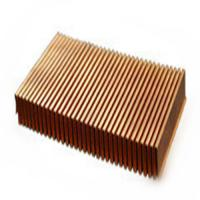Buy cheap Aluminium Folded Heatsink with Dense fins heat sink product