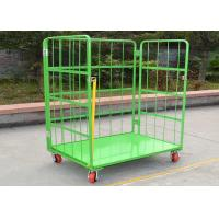 China Folding Stackable Wire Mesh Cage , Wire Mesh ContainerRoll Trolley For Transport on sale