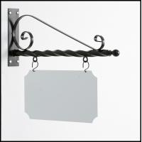 China wrought iron board Hanging Chalk Board Sign  Bracket Wrought Iron Decor Crafted handmade on sale