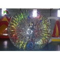 Buy cheap Shining Zorb / Clear Inflatable Coloful Shining Flash Roller Ball For Grassplot rolling product