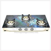 China 3 Burners Painting Tempered/Toughened Glass Gas Stove Tops on sale