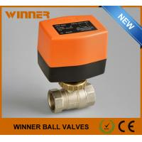 China Solar Energy System Electric Water Ball Valve , 2 Way Motorised Valve Full Bore on sale