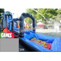Buy cheap Blue / Green Customized Inflatable Water Slide With Constant Blowing System product