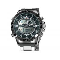 Buy cheap Weide Quartz Mens Military Watches Stainless Steel With Chronograph Date product